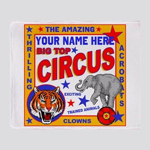 Vintage Circus Poster Throw Blanket